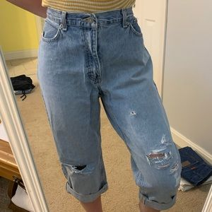 Cropped distressed boyfriend Tommy Jeans